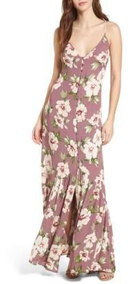 BP Floral Button Front Maxi Dress