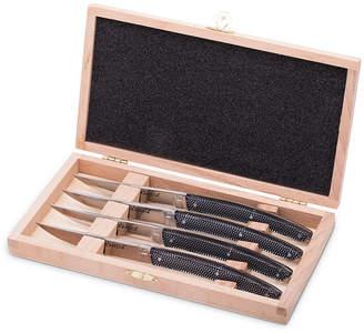 Skandia Vivid Carbon Set Of 4 Steak Knives