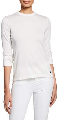 Loro Piana Ventatone Lightweight Knit Long-Sleeve Crewneck Sweater
