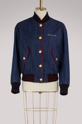Miu Miu Denim bomber jacket