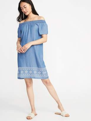 Old Navy Smocked Tencel® Shift Dress