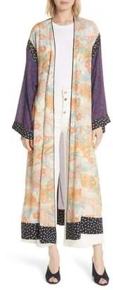 Elizabeth and James Shawna Floral Patchwork Silk Kimono