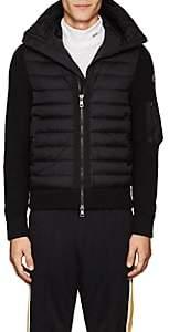 Moncler Men's Tech-Fabric & Wool-Blend Down Hooded Jacket - Black