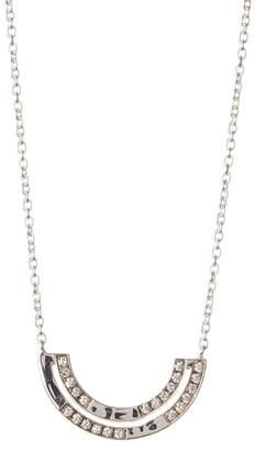 Ippolita Senso Sterling Silver Pave Diamond Half Arc Pendant Necklace - 0.30 ctw