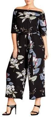 City Chic Plus Floral Jumpsuit