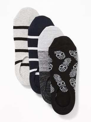 Old Navy No-Show Liner Socks 4-Pack for Men