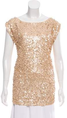 Alice + Olivia Silk Sequin Tunic