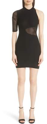 Cushnie et Ochs Imma Sheer Panel Knit Minidress