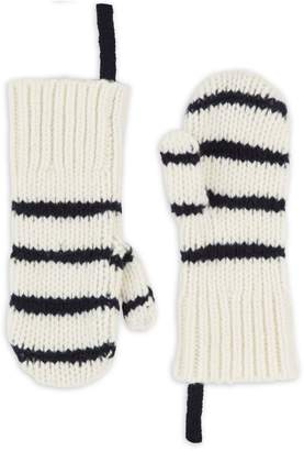 Rag & Bone Sam Stripe Lambswool Mittens