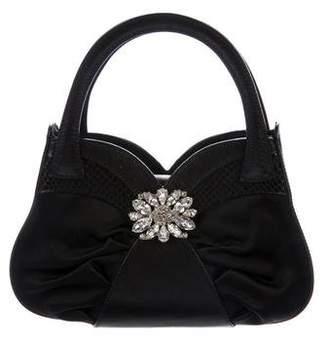 Giuseppe Zanotti Embellished Satin Handle Bag