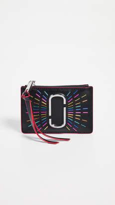 Marc Jacobs Snapshot Confetti Top Zip Multi Wallet