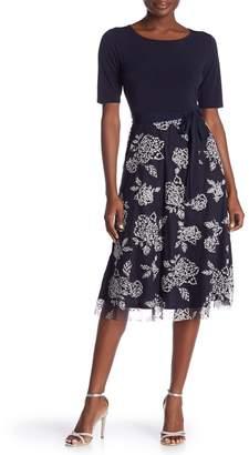 Onyx Nite 3/4 Sleeve Caviar Circle Skirt