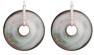 Vanda Jacintho - Saturn Paua Shell Earrings - Womens - Grey