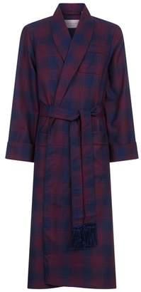 Derek Rose Wool Check Robe