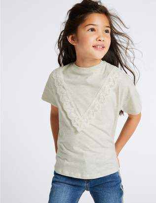 Marks and Spencer Lace Detail Top (3-16 Years)