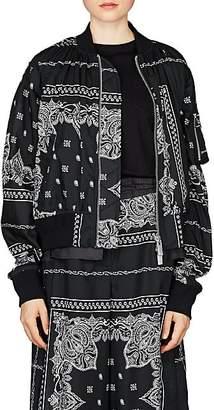 Sacai Women's Bandana-Print Bomber Jacket