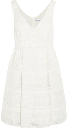 REDValentino - Crocheted Lace Mini Dress - White $750 thestylecure.com