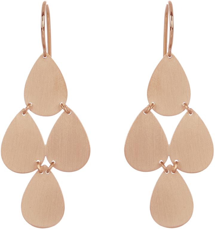 Irene Neuwirth Rose-gold chandelier earrings