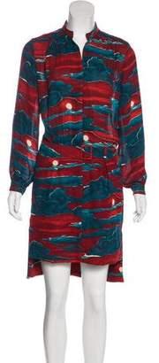 Kenzo Printed Long Sleeve Dress