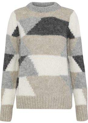 Antik Batik Jeany Color-Block Alpaca-Blend Sweater