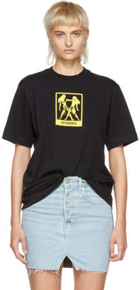 Vetements Black Gemini Horoscope T-Shirt