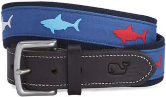 Vineyard Vines Patriot Shark Canvas Club Belt