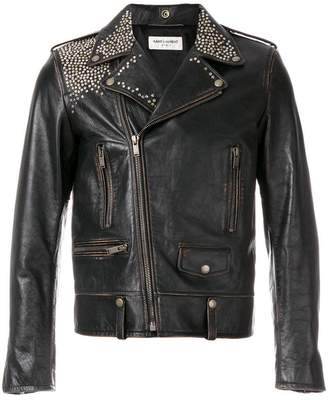 Saint Laurent multi-stud biker jacket