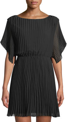 Ali & Jay Short-Sleeve Pleated Sheath Dress