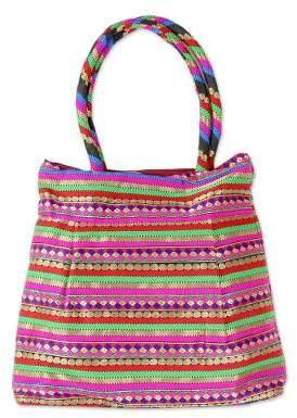 Festive Gujarat Indian Designer Multicolored Brocade Shoulder Bag