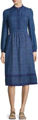 A.P.C. Romy Print Voile Dress, Blue