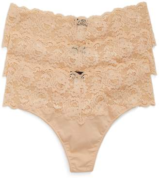 Cosabella 'Lovelie' Lace Trim Thong