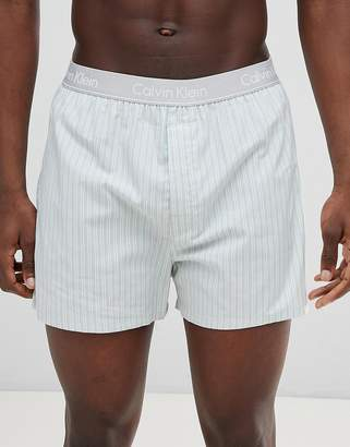 Calvin Klein Woven Boxers in Traditional Fit