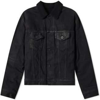 Unravel Project Wax Shearling Denim Jacket