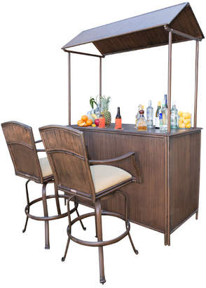 Panama Jack 3 Piece Tiki Bar Set with Cushions