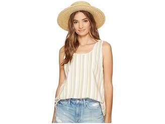 BB Dakota Bowe Stripe Cotton Rayon V-Back Tank Top Women's Sleeveless