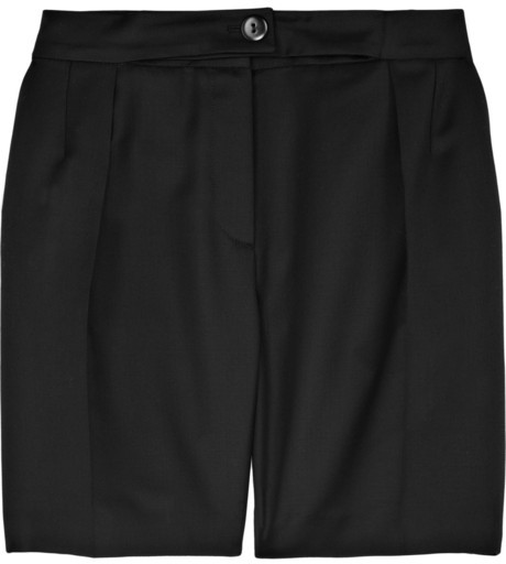 Carven Wool-blend twill shorts