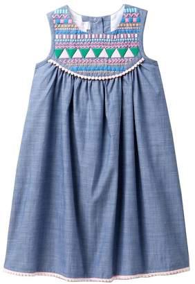 Iris & Ivy Sleeveless Chambray Float Dress (Little Girls)