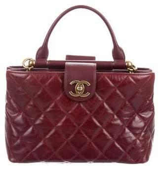 Chanel 2016 Gold Bar Small Top Handle Bag
