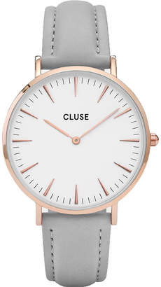 Cluse CL18015 La Bohème rose gold and leather watch