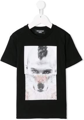 Neil Barrett Kids Man-Wolf print T-shirt