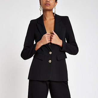 River Island Black fitted long sleeve blazer