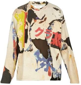 Marques Almeida Marques'almeida - Printed Jersey Sweatshirt - Mens - Multi