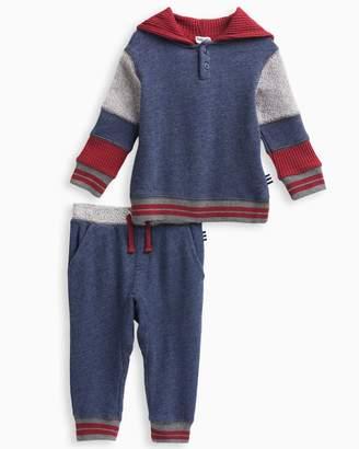 Splendid Baby Boy Mixed Fabric Hoodie Set