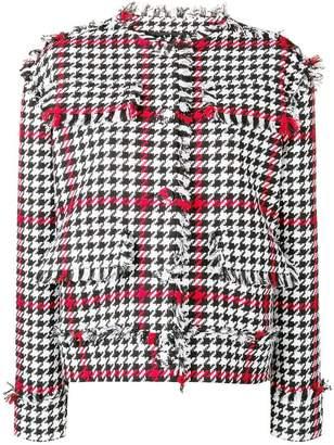 MSGM houndstooth print tweed jacket