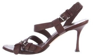 Brian Atwood Leather Buckle Sandals $75 thestylecure.com