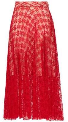 Christopher Kane Pleated Lace Midi Skirt