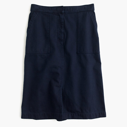 J.Crew A-line skirt with pockets