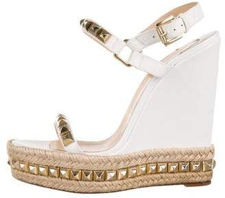 Christian Louboutin Cataclou Studded Wedges