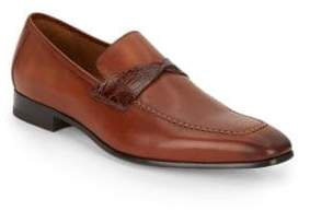 Mezlan Crocodile Strap Leather Loafers
