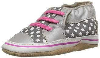 Robeez Girls' Trendy Trainer Crib Shoe